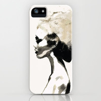 Serene - Digital fashion illustration / painting iPhone & iPod Case by Allison Reich