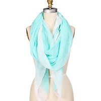 Mint Anchor Print Scarf