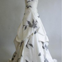 A-Line Strapless Sweetheart Neckline Taffeta Wedding Dress | MaggiesBridalShop - Wedding on ArtFire