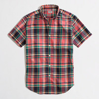 Factory short-sleeve shirt in summer plaid