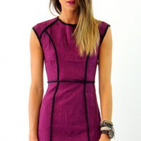 All This Time dress in violet  | Show Pony Fashion online shopping