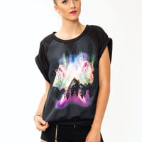 Northern-Lights-Tiger-Tee PINKBLACK - GoJane.com