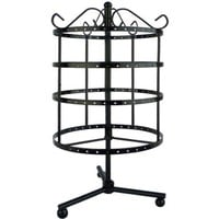 4 Tiers Black Rotating Spin Table Top 92 pairs Earring Holder Organizer Stand / Jewelry Stand Display Rack Towers