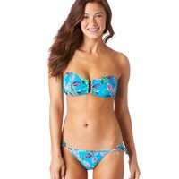 Aerie Leaves Bandeau Bikini Top | Aerie for American Eagle