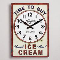 Time to Buy Ice Cream Clock | World Market