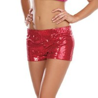 Amazon.com: Glam Sequin (Red) Adult Shorts: Clothing