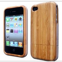 Amazon.com: Light Luxury Unique Handmade Natural Wood Wooden Bamboo Hard Case Cover for Iphone 4 4s At&t Verizon Light Brown with Bona Retail Packing Box: Cell Phones & Accessories