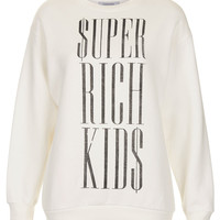 **Super Rich Kids Sweater by Illustrated People - Topshop