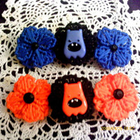 Little Monster Flower Barrette choose one