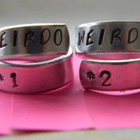 weirdos pair of rings BFF