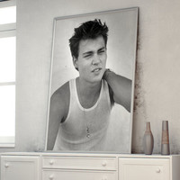 Johnny Depp 1984 Rare Photo X-Large Poster A1 (841 x 594 mm - 33.1 x 23.4 in)