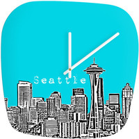 DENY Designs Home Accessories | Bird Ave Seattle Teal Modern Clock
