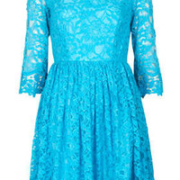 Scallop Hem Lace Dress - New In This Week  - New In