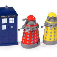 BBC America Shop - Doctor Who Wind-Up TARDIS and Daleks