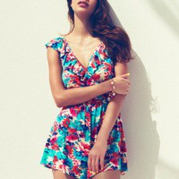 Lipsy Wrap Front Playsuit