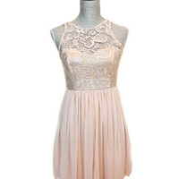 In Between Dreams Lace Dress - Natural -  $50.00 | Daily Chic Dresses | International Shipping