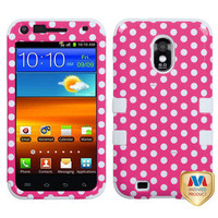 Samsung Galaxy S2 D710 (Sprint/Verizon) - Pink Polka Dots Hard & Soft Armor Case
