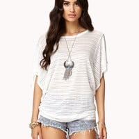 Semi-Sheer Striped Dolman Top | FOREVER21 - 2060567904