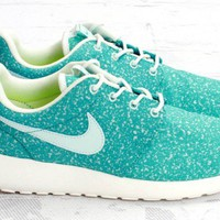 Nike Roshe Run Aqua Green Light Free Summer Running Womens Shoes