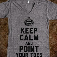 Keep Calm and Point Your Toes (V-Neck) - Gym N Fitness - Skreened T-shirts, Organic Shirts, Hoodies, Kids Tees, Baby One-Pieces and Tote Bags