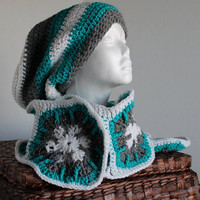 Women - Handmade Scarf and Slouchy Hat