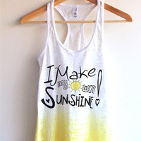 I make my own sunshine Tie Dye Tank Top