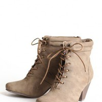 lisandra lace up bootie