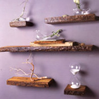 Rustic Wood Shelves by Roost