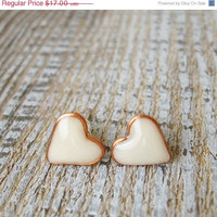 SALE Glow in the Dark Tiny Studs Hearts Earrings Luminescent Hearts Jewelry