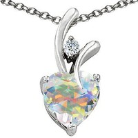 Original Star K(tm) Genuine Heart Shaped Swarovski Crystal Pendant in .925 Sterling Silver