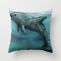 Vaquita  Throw Pillow by Ben Geiger