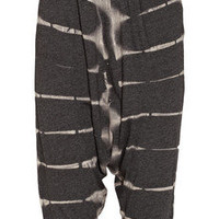 Raquel Allegra | Cropped tie-dye cotton-blend jersey pants | NET-A-PORTER.COM