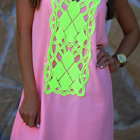 Pick Up The Pieces Dress: Baby Pink | Hope's