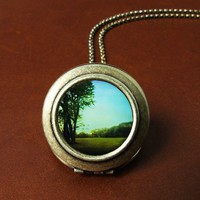 The Quiet Earth Photo Locket Necklace by HeartworksByLori on Etsy