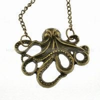 Antique octopus necklace Retro necklace by luckyvicky on Etsy