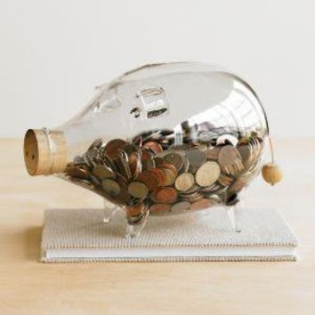 VivaTerra-Glass Piggy Bank