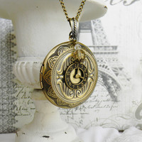 Solid Perfume Locket, Locket Necklace, Solid Perfume Locket Necklace
