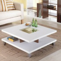 Enitial Lab Lendon Square Coffee Table, White: Home & Kitchen