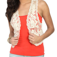 Crochet Vest - Teen Clothing by Wet Seal