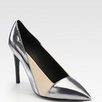 See by Chloe - Metallic Leather & Satin Pumps
