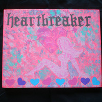 mudflap girl heartbreaker acrylic canvas painting for girls room
