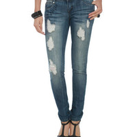 Side Screen Print Jean - Teen Clothing by Wet Seal