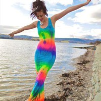 Xylia Tie Dye Dress from Obscure Couture