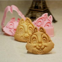 Chip and Dale 3D Cookie Cutter Stamp Set