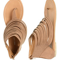 Sarina Multi Strap Sandal - Teen Clothing by Wet Seal