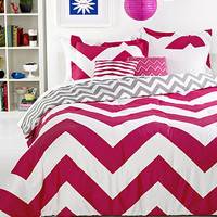 Chevron Pink 5 Piece Comforter Sets - Bed & Bath - Macy's
