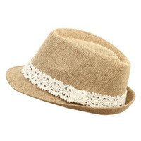 Crochet Banded Fedora - Teen Clothing by Wet Seal