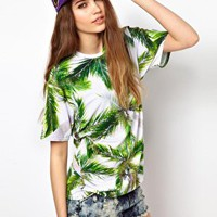 Mr. Gugu & Miss Go Palm T-Shirt at asos.com