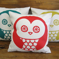 OWL Pillow Cover cushion 100 cotton by olula on Etsy