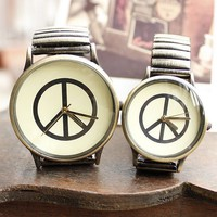 Anti-war Symbol Vintage Tone Quartz Watches for Couple - Watches - Accessories - Women Free Shipping